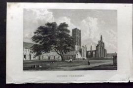 Westall 1830 Antique Print. Howden, Yorkshire